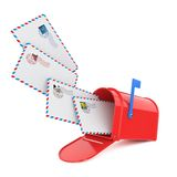 Mailbox with Letters. Stock Images