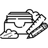Mailbox line icon royalty free illustration