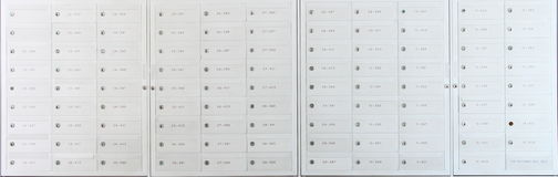 Mailbox locker. The mailbox locker is under every one residential builing(HDB) in singapore stock images
