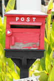 Mailbox made of  wood, vintage style. Royalty Free Stock Photography
