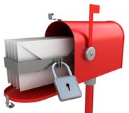 Mailbox with mail Royalty Free Stock Photography