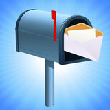 Mailbox with mail Royalty Free Stock Images
