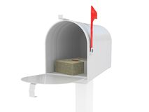 Mailbox with mail Stock Image