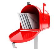 Mailbox with mails Stock Images