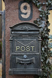 Mailbox. Metal retro mailbox or postbox Royalty Free Stock Photography