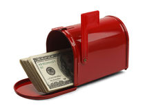 Mailbox Money Royalty Free Stock Images