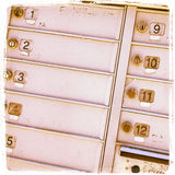 Mailbox Numbers Royalty Free Stock Photos
