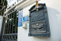 Mailbox. Outside the walls of the mailbox royalty free stock photos