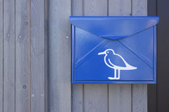 Mailbox with a picture of a seagull Royalty Free Stock Photography