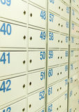 Mailbox in postoffice Royalty Free Stock Photography
