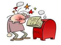Mailbox problems Royalty Free Stock Image