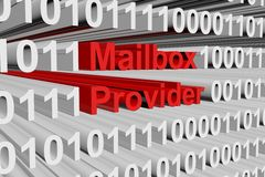 Mailbox provider. In the form of binary code, 3D illustration vector illustration