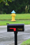 Mailbox in the rain Royalty Free Stock Photo