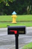Mailbox in the rain Royalty Free Stock Photo