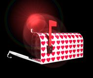 Mailbox With Red Hearts Royalty Free Stock Photography