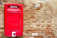 Mailbox red italian Royalty Free Stock Photos