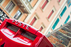 Mailbox. Red postal box Stock Photos
