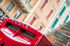 Mailbox. Red postal box Stock Photos