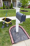 Mailbox Renovation Stock Photo