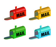 Mailbox set Stock Image