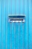 Mailbox slot on industrial metallic wall Royalty Free Stock Photo