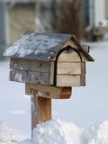 Mailbox in the snow. In the winter time Royalty Free Stock Photos
