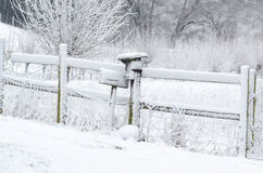 Mailbox in the snow Stock Image