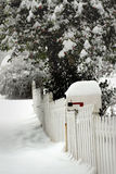 Mailbox on a Snowy Day Royalty Free Stock Images