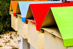 Mailbox Tops in Color Royalty Free Stock Image