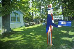 Mailbox with Uncle Sam cutout Stock Image
