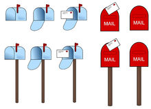 Mailbox vector icon Stock Photos