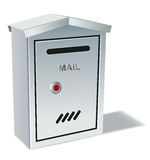 Mailbox. Vector metal mailbox on white background, eps10 file, gradient mesh and transparency used royalty free illustration