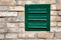 Mailbox in a wall Stock Images