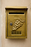 Mailbox on a wall. Mailbox with decorative elements on a wall royalty free stock photos