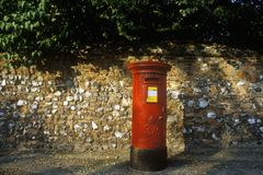 Mailbox in Watton, England Royalty Free Stock Photos