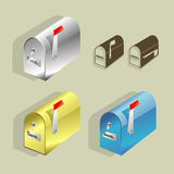 Mailboxes. Illustration of mailboxes in different styles Royalty Free Stock Photos