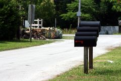 mailboxes Obrazy Royalty Free