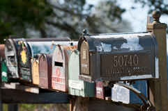 Mailboxes in Big Sur Royalty Free Stock Images
