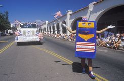 Mailboxes Etc. in July 4th Parade, Ojai, California Stock Photo