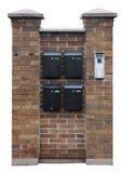 Mailboxes  hang on a brick wall Royalty Free Stock Photography