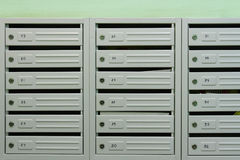 Mailboxes. In the interior of residential house Stock Images