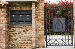 Mailboxes in Italy Royalty Free Stock Images