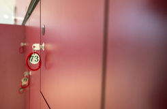 Mailboxes and keys. Blurred background Stock Photography