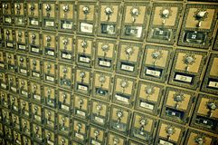 Mailboxes lined Stock Photo