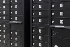 Mailboxes Marked by Numbers Stock Photos