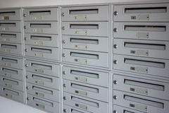 Mailboxes in a row Stock Photo