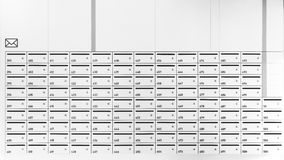 Mailboxes in row Royalty Free Stock Photos