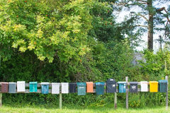 Mailboxes in a row Royalty Free Stock Images