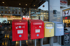 Mailboxes in Stockholm, Sweden Royalty Free Stock Image
