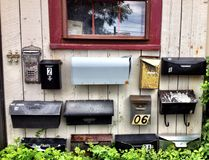 Mailboxes Stock Photography